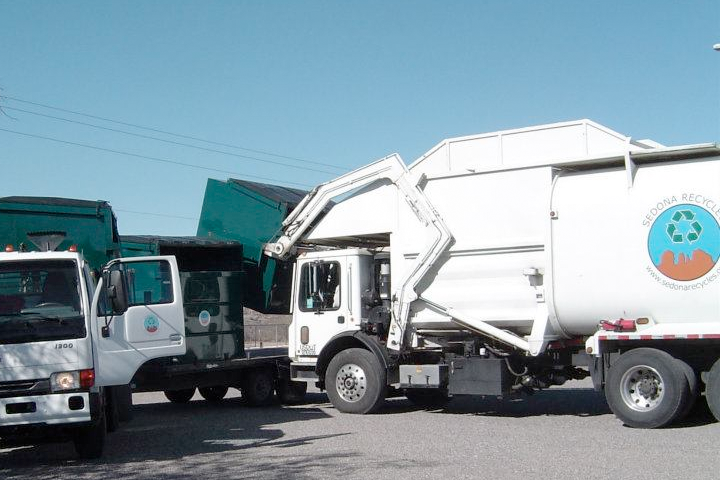 Sedona Recycles Collection Trucks