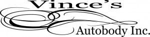 Vince's Auto Body logo name
